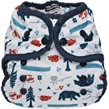 Thirsties Duo Wrap Cloth Diaper Cover, Snap Closure, Adventure Trail Size One (6-18 lbs)