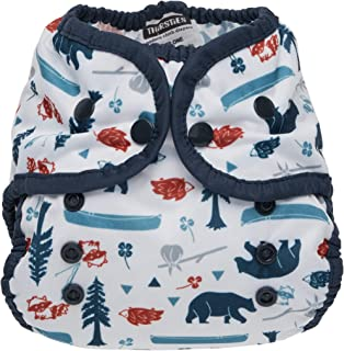 product image for Thirsties Duo Wrap Cloth Diaper Cover, Snap Closure, Adventure Trail Size One (6-18 lbs)