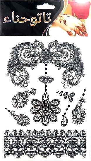 Amazoncom Black Elegant Jewel Sexy Lace Tattoo Female