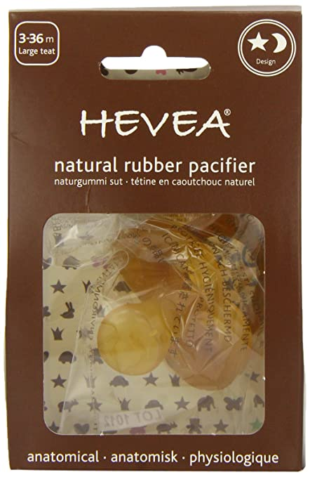 Hevea Star and Moon, Large Teat, 3 - 36 Months