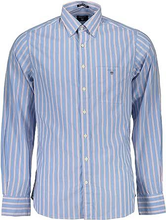 Gant 1601.347372 Camisa con Las Mangas largas Hombre Azul 610 ...