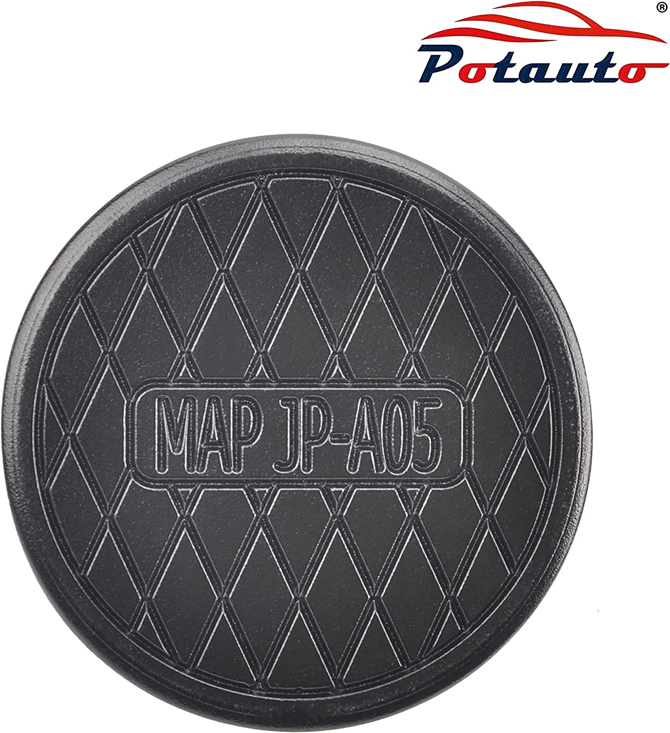 Jack Pad for Tesla, Black POTAUTO Universal Aluminum Jack Pad Adapter Support for Tesla Model X and S