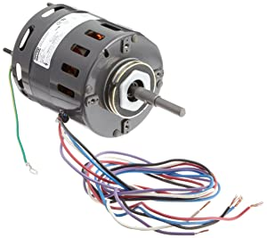 """Fasco D480 4.4"""" Frame Open Ventilation Shaded Pole Refrigeration Fan Motor with Sleeve Bearing, 1/10 HP, 1550rpm, 115/208-230V, 60Hz, 4.5-2.2 amps, CW Rotation"""