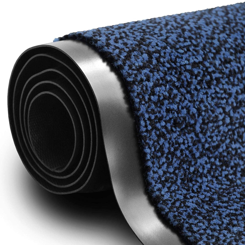   absorbant nombreuses tailles et couleurs 120x180cm lavable machine bleu chiné Paillasson casa pura® tapis polypropylène certifié EPH Stop lélectrité stastique