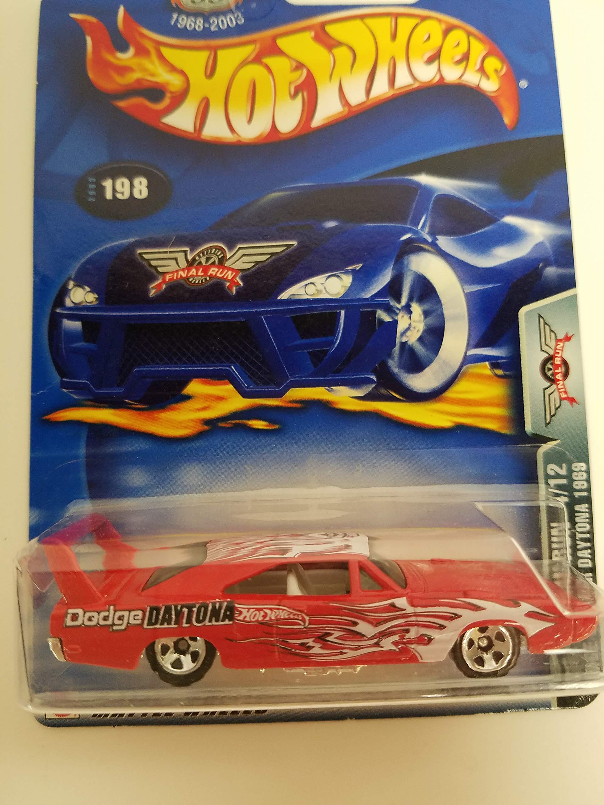Dodge Charger Daytona 1969 Final Run 4/12 2003 Hot Wheels diecast car No. 198