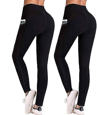 Amazon.com: IUGA Pantalones de yoga de cintura alta con ...