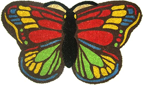 Geo Crafts Vinyl Back Shaped Butterfly Doormat