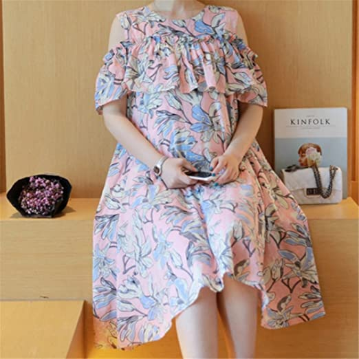 KDHJJOLY Comfortable 2016 Maternity Clothes Summer Women Pregnant Dress Off Shoulder O Neck Vestidos Embarazadas Fashion Print Robe Hamile Elbisesi picture ...