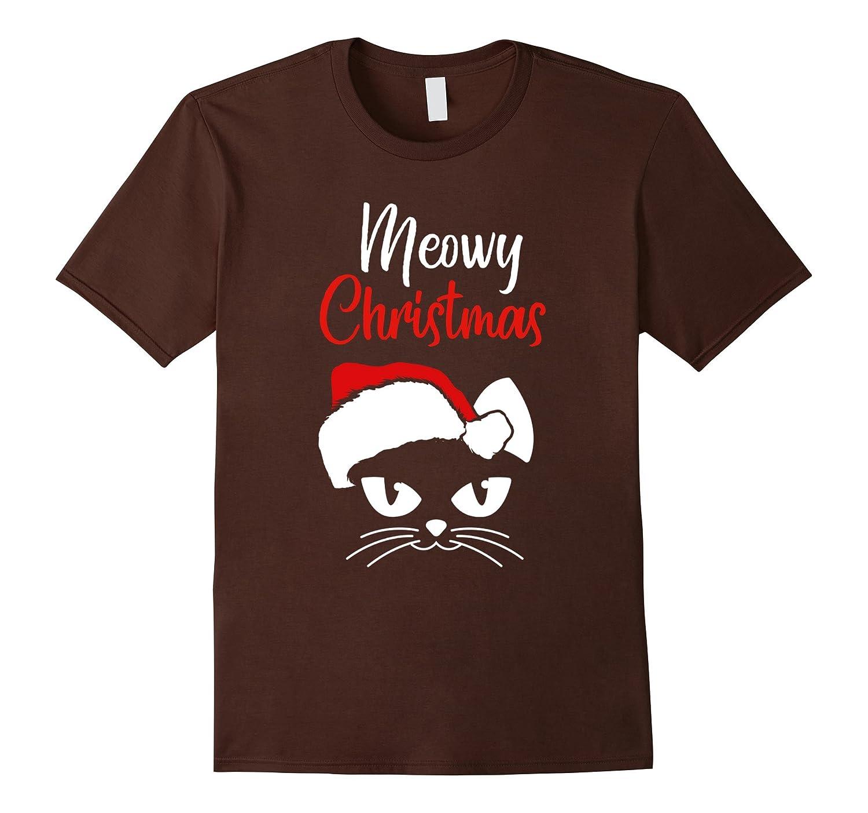 funny meowy christmas shirt cat Xmas Gift - Men Women Kids-FL