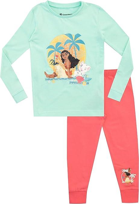 Disney Pijamas de Manga Larga para niñas Moana Ajuste Ceñido Vaiana: Amazon.es: Ropa y accesorios