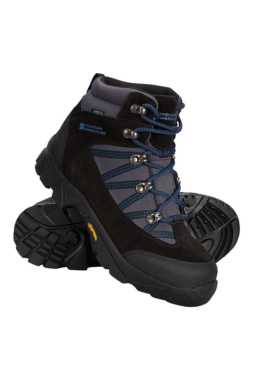 Mountain Warehouse Edinburgh Vibram Youth Wasserfeste Stiefel - Atmungsaktive Kinderstiefel, leichte Wanderstiefel, Netzfutter, strapazierfähige Regenstiefel - Für Reisen