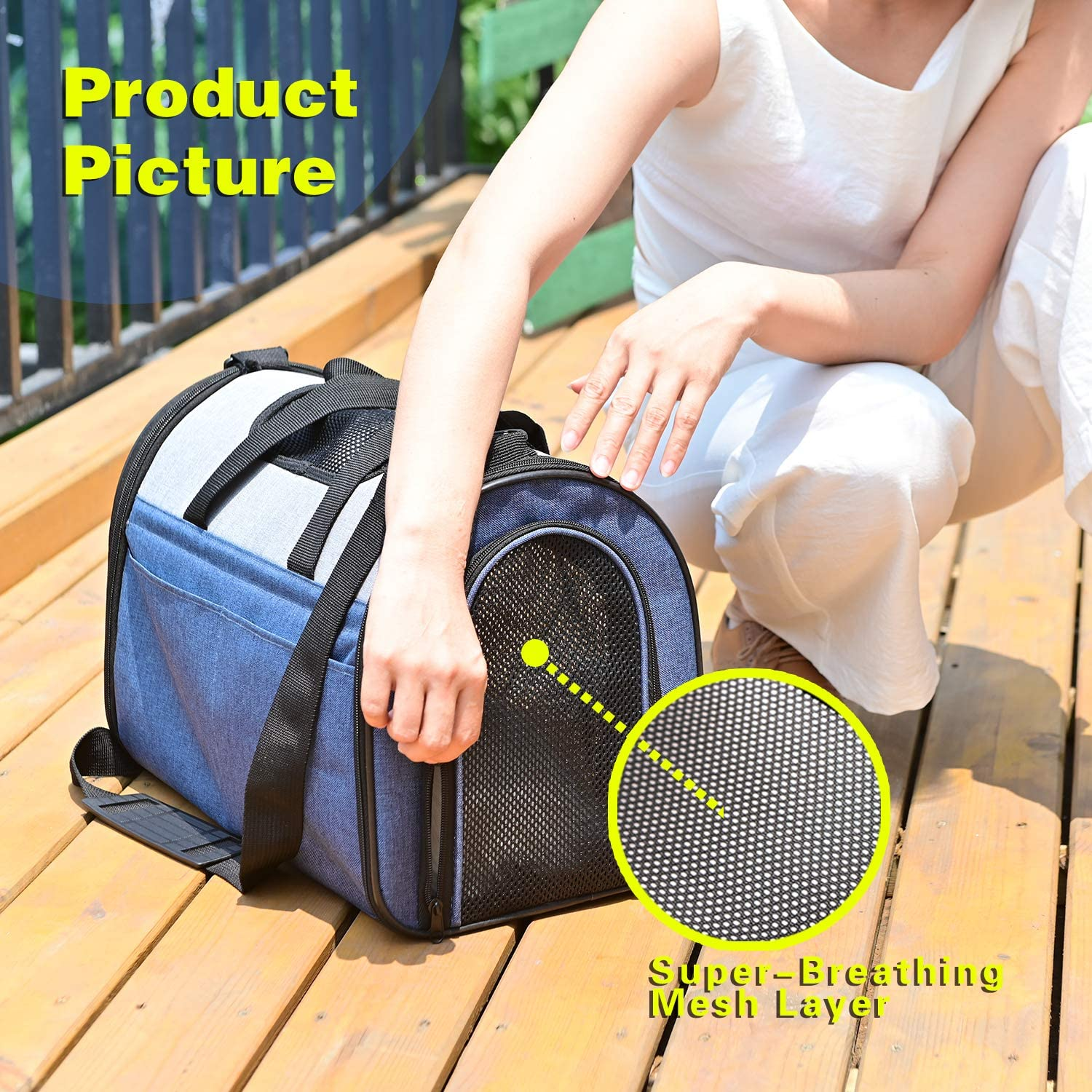 Airline Approved Pet Carrier for Easy Carry on Luggage Best for Small Dog and Cat up to 14 LBS Portable Soft-Sided Air Travel Bag SENYEPETS Pet Carrier for Dogs /& Cats