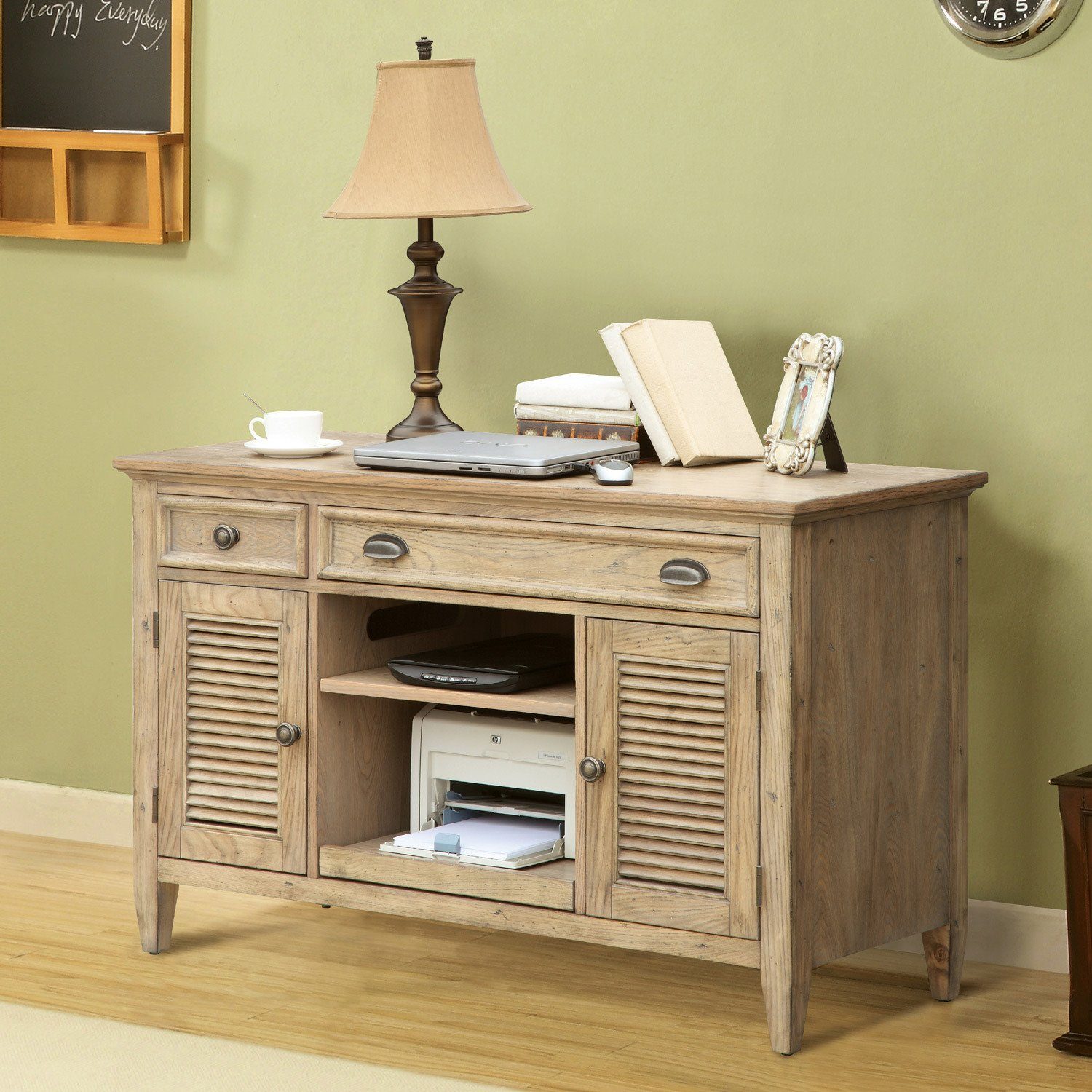 Amazon.com : Riverside Furniture Coventry Credenza Desk In Weathered  Driftwood : Computer Desks : Office Products