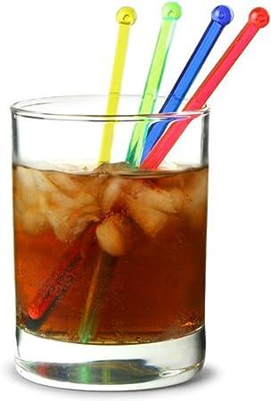50/x Coloured cocktail Stirrer Swizzle Fruit spiedini bastoncini per bere gin mojito party