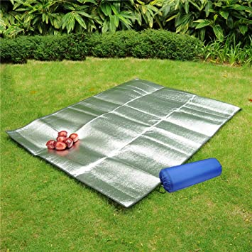 Aluminum Foil Mat Tent Footprint Waterproof EVA Picnic Blanket C&ing Sleeping Mattress & Amazon.com : Aluminum Foil Mat Waterproof EVA Sleeping Mattress ...