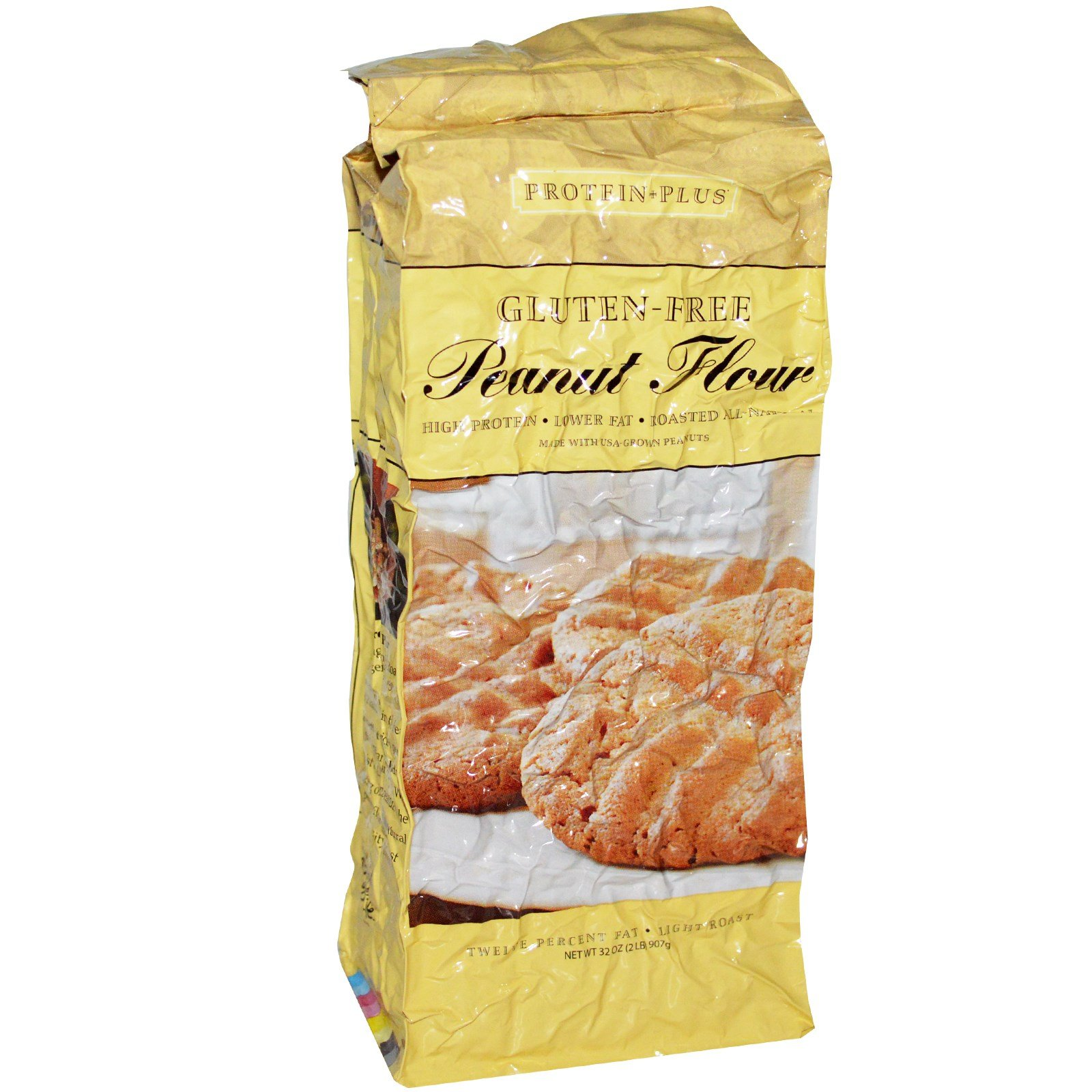 Protein Plus, Roasted All Natural Peanut Flour, 32 oz (907 g) - Pack of 3