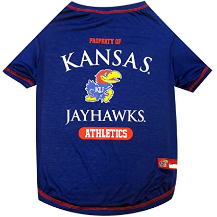Amazon.com   University of Kansas Doggy Tee-Shirt   Sports   Outdoors 2aa86d923