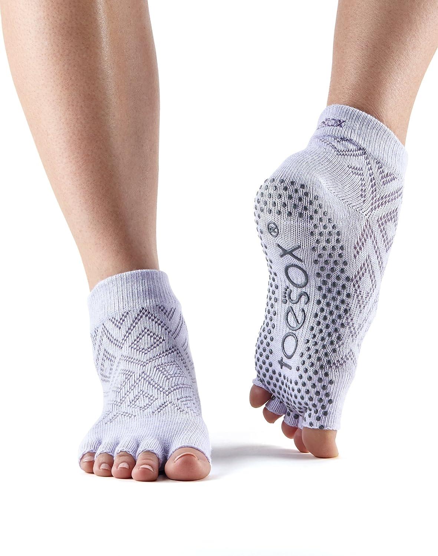 Toesox Half Toe Ankle Grip Socks Yoga-Mad HT-parent