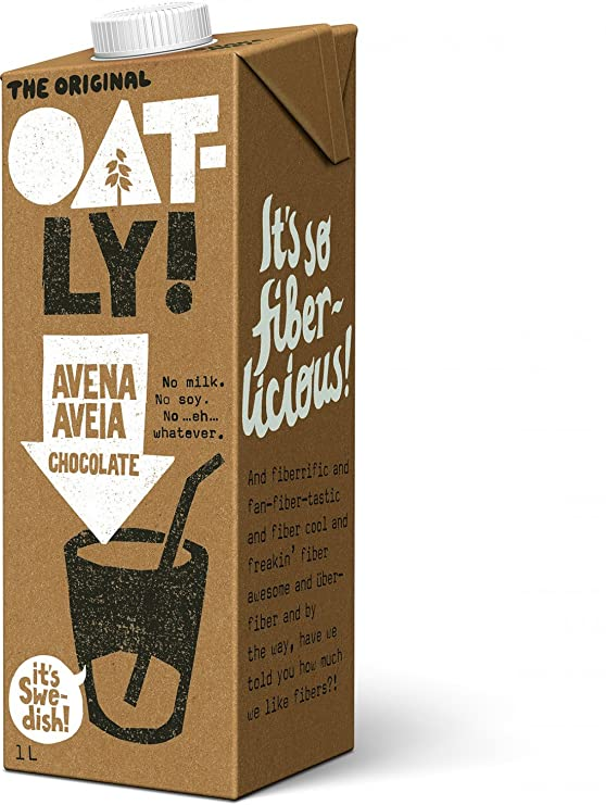 Oatly Bebida Avena con Chocolate - 1000 ml - [Pack de 3]: Amazon.es: Alimentación y bebidas