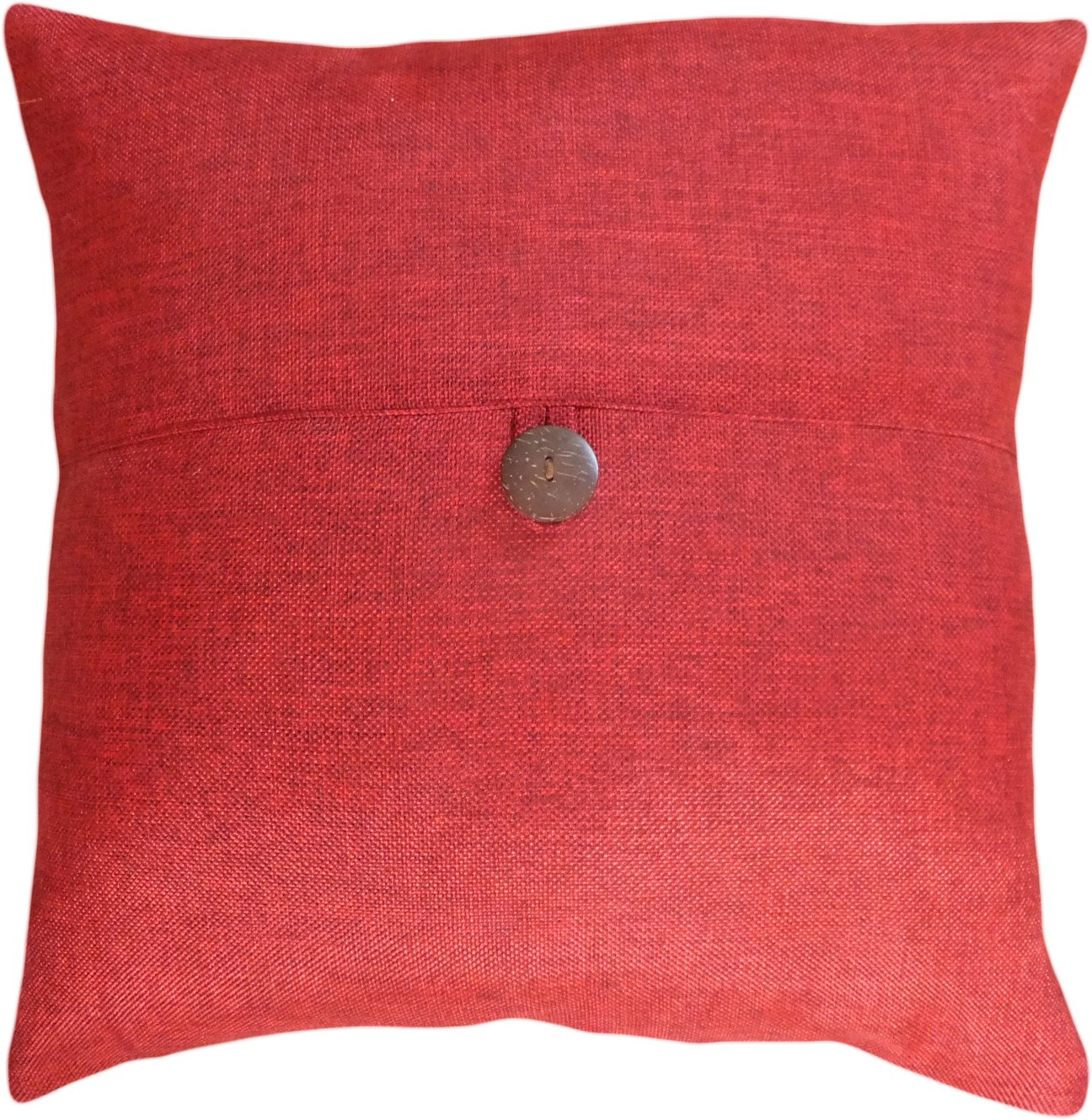 Amazon.com: Decorative Button Burgundy Throw Pillow Cover 16 ...