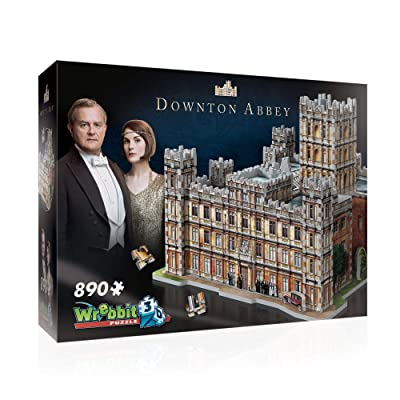 WREBBIT 3D – Downton Abbey 3D Jigsaw Puzzle - 890Piece, Brown/A: Toys & Games