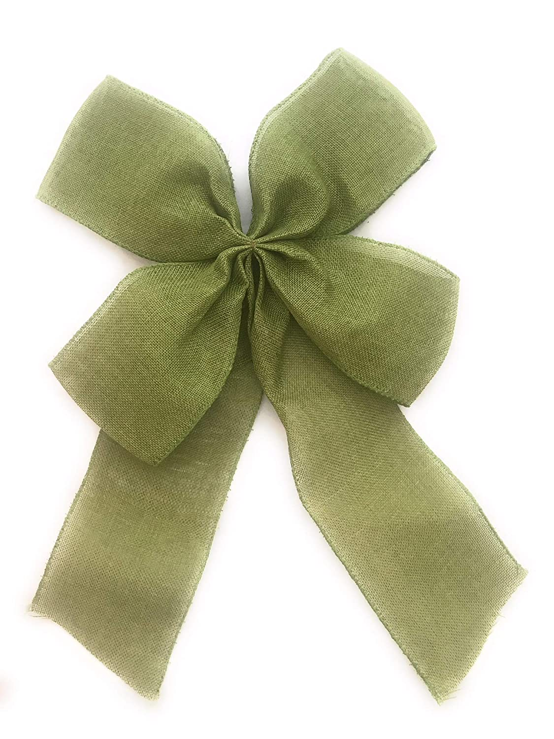 Above All Burlap Bow for Decorating with Wire Edge-Fall Colors (Green) Above All Goods