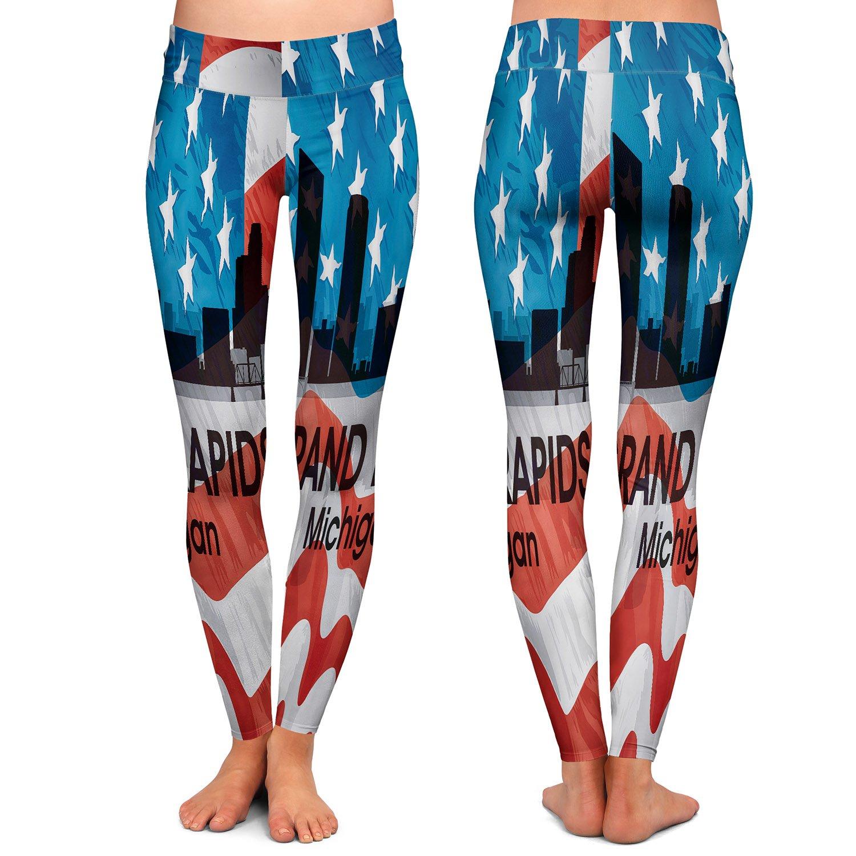 Athletic Yoga Leggings from DiaNoche Designs by Artist Angelina Vick City VI Grand Rapids Michigan