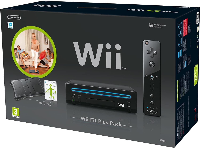 Nintendo Wii Console (Black) with Wii Fit Plus: Includes Balance Board and Wii Remote Plus [Importación inglesa]: Amazon.es: Videojuegos