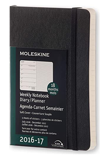 Amazon.com: Moleskine 2016-2017 - Cuaderno semanal, 59.1 ft ...