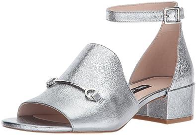 Nine West Womens Funnyhowk Silver Metallic - Sandals