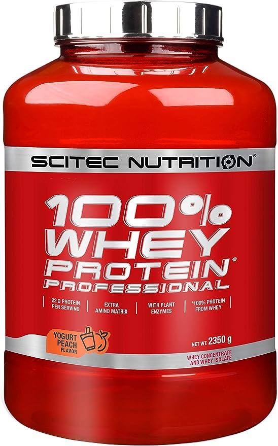 Scitec Nutrition 100% Whey Protein Professional Proteína Yogur, Melocotón - 2350 g