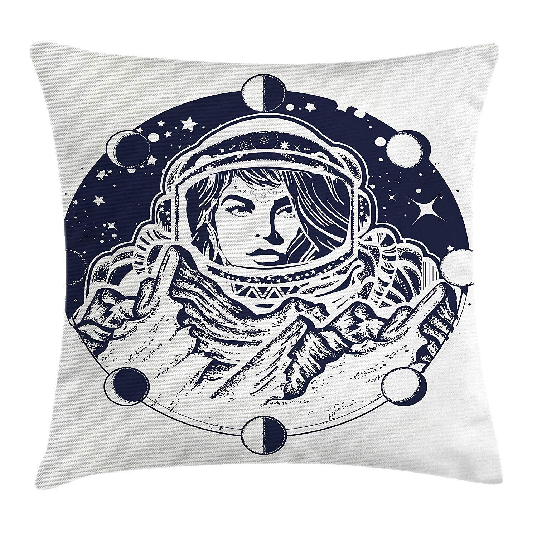 Jxrodekz Funda de cojín con cojín de Fases Lunares, Mujer ...