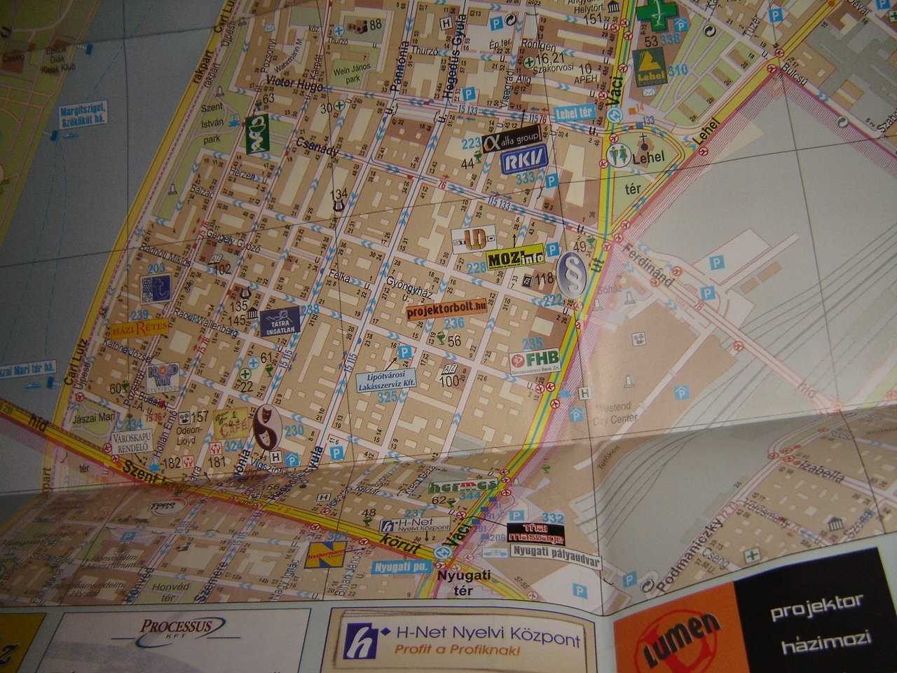 Map Of The Xiii District Of Budapest Hungary Budapest Xiii
