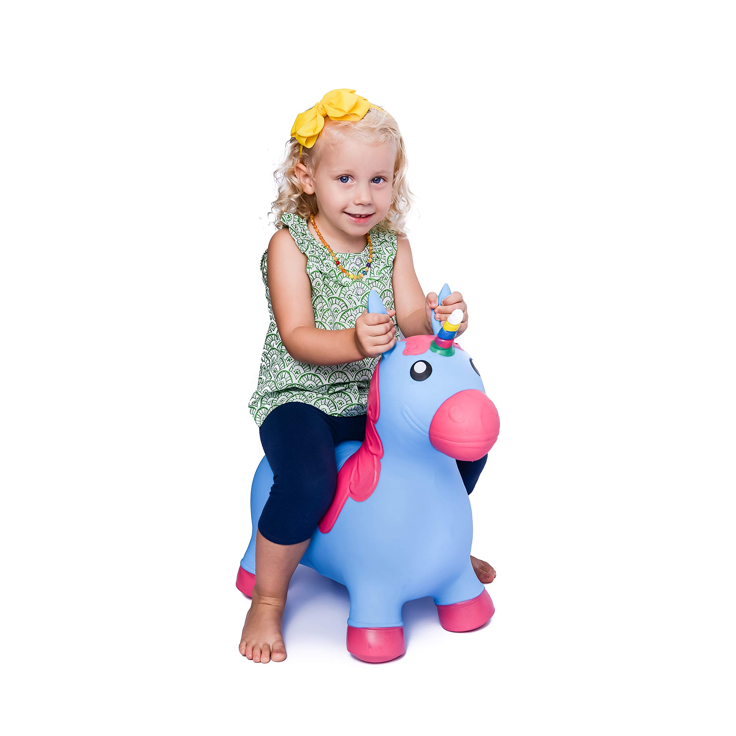 Kiddie Play Hopper Ball Unicorn Inflatable Hoppity Hop Bouncy Horse Toy (Pump Included) by Kiddie Play (Image #2)