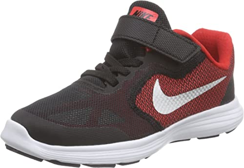Nike Revolution 3 PSV University Red Metallic Silver running 819414-600