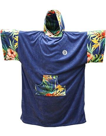 Madness Poncho cambiando Bata Unisex, Color Azul, Talla única