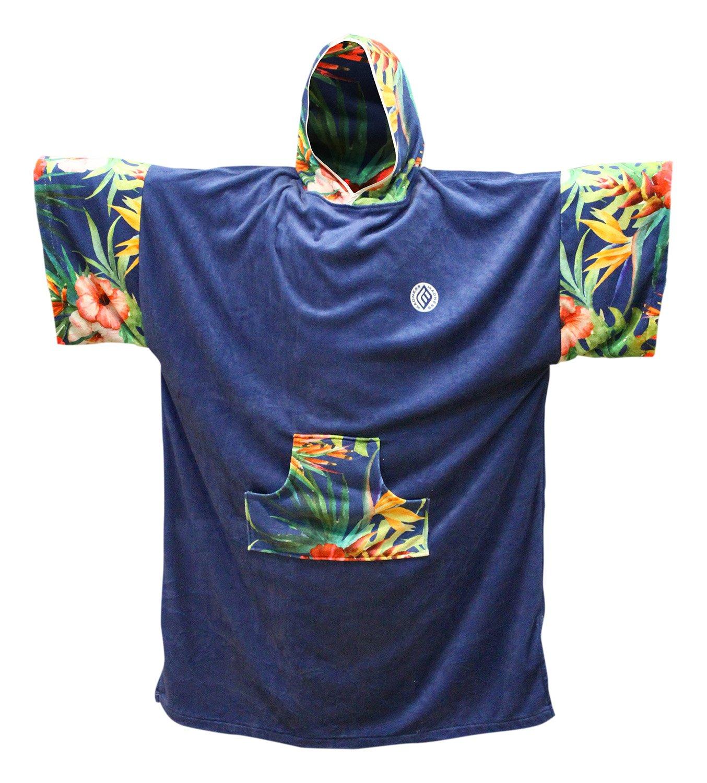 Madness unisex poncho changing Robe, blu, taglia unica AZT002-41034