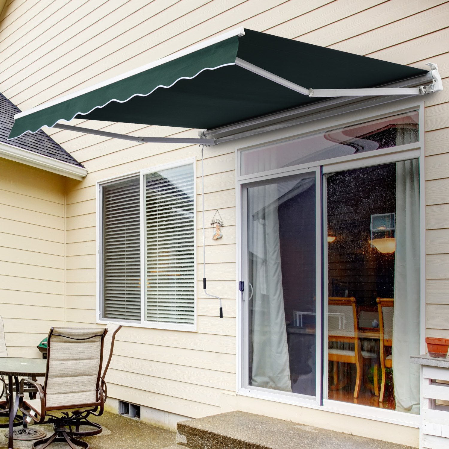 collection long awesome beautiful awnings island home sunsetter best awning interior of cost