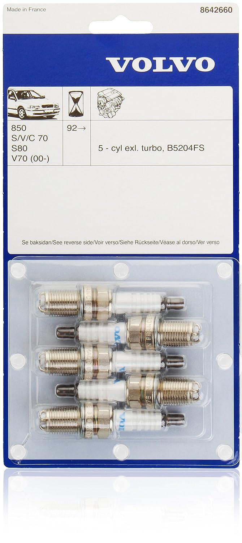 Bujías de Volvo Original para Volvo 850, S60, S70 V70 (de 2000), S80 (de 2006), V70 (P26): Amazon.es: Coche y moto