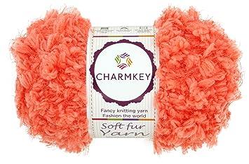 Charmkey doux fourrure Laine Super Fluffy 5 Laine 100% polyester Fleur  Vacances bébé 12 plis 225cef4c157