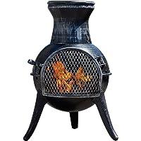 Thompson & Morgan Garden Chimenea Wood Burner Fire Pit with Coal Poker