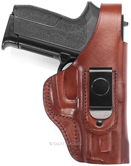Amazon com : Kimber Micro 9 Leather IWB Holster with Steel Clip