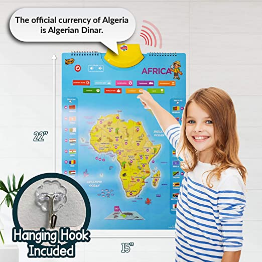 Amazon.es: Learn & Climb Mapa Interactivo del Mundo para niños – Juego de 5 Carteles de conversación electrónica con más de 1000 Datos
