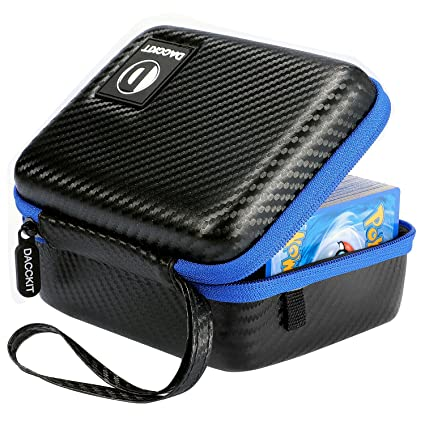 D DACCKIT Carrying Case Compatible with Pokemon Trading Cards - Fits Up to 400 Cards, Card Holder with Hand Strap and Carabiner