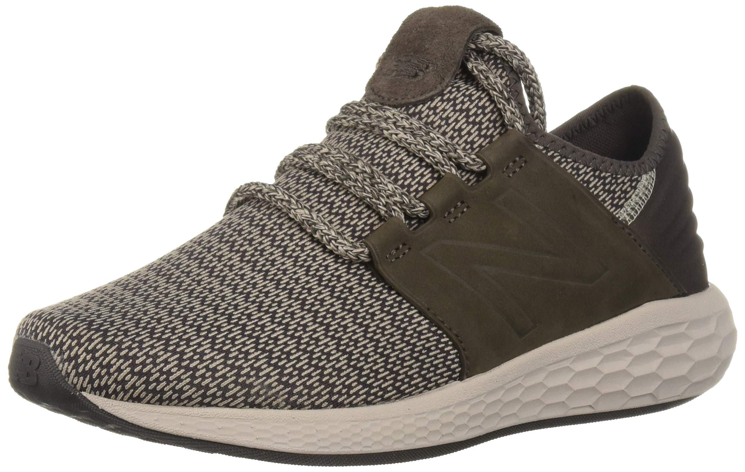 New Balance Men's Cruz V2 Fresh Foam Running Shoe, americano/flat white, 15 2E US by New Balance (Image #1)