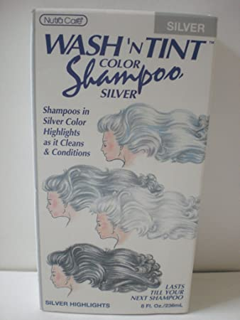Nutra Care Wash N Tint Color Silver Shampoo For Silver Highlights