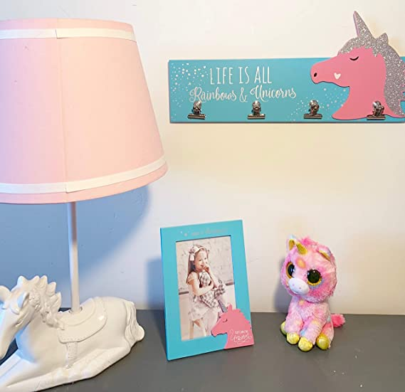 Amazon.com: Decoración de dormitorio de unicornio para niñas ...