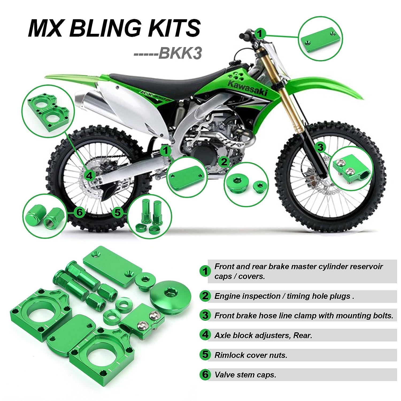 Billet  Engine Timing Plugs Bolts Covers For Kawasaki KX250F KX450F KLX450R Vehicle Parts & Accessories