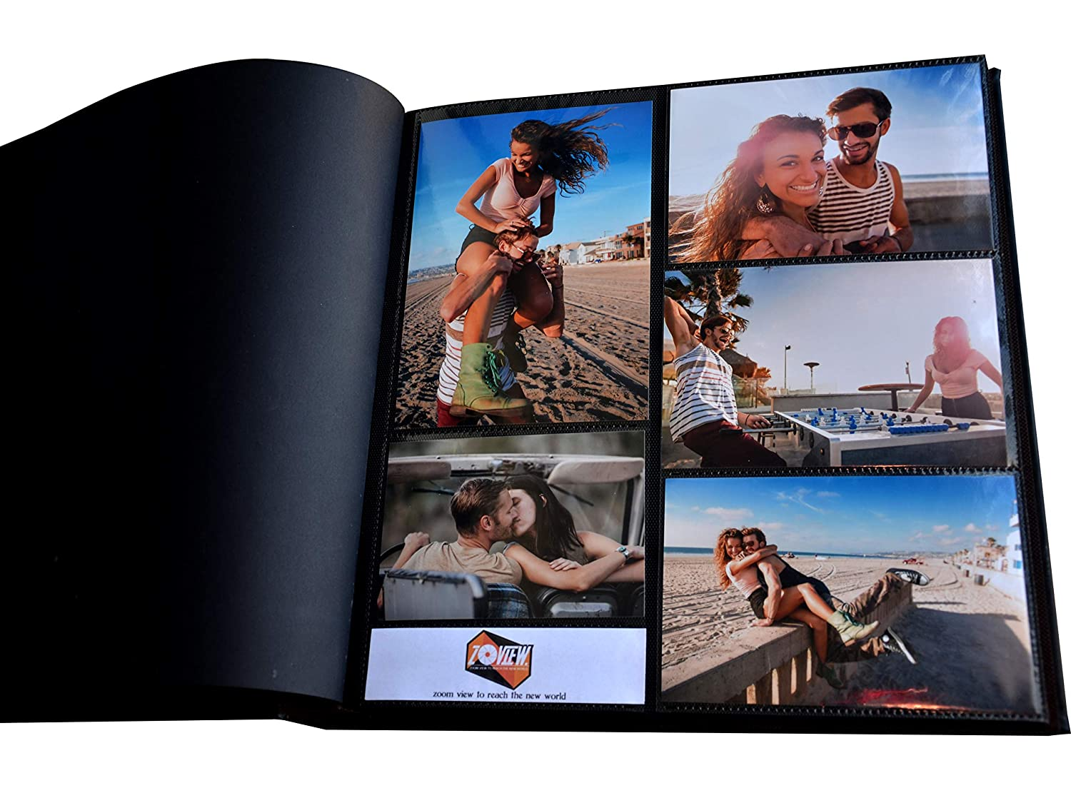 Zoview 600 Horizontal And Vertical Pockets Photo Album Leather