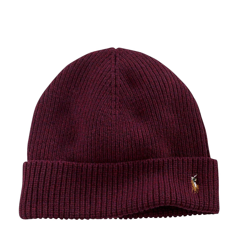 142816190e2f4 Polo Ralph Lauren Men s Signature Cuffed Merino Hat (One size